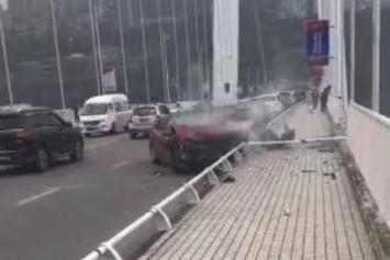 At least 2 dead after bus plunges into Yangtze river after crash
