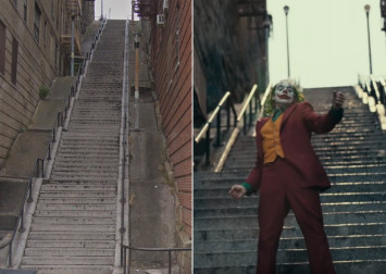 The stairway in Joker has been receiving rave reviews on Google Maps - as a religious destination