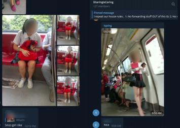 SharingIsCaring: Secret Telegram group circulating pictures of schoolgirls on MRT