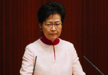 Hong Kong leader Carrie Lam 'puzzled' by demands to disband police