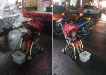 Malaysian dad apologises for making toddler beg in the rain