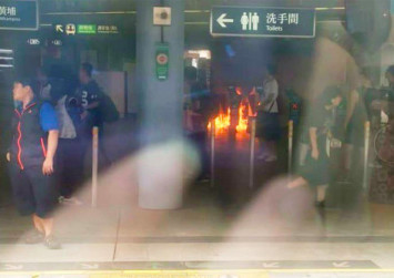Hong Kong protests: Petrol bombs thrown in MTR station as demonstrators take to streets again