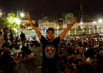 Thai police clear protest as decree bans gatherings