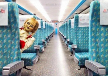 Taiwan train company lodges complaint after Annabelle 'demon doll' appears on its trains