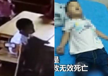 Mother wails as she watches son, 4, choke to death on kindergarten CCTV