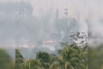 Fire the size of a football field breaks out near Jurong Town Hall Road