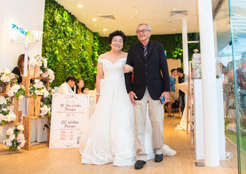 Surprise! Family throws elderly couple a wedding party on their 54th anniversary