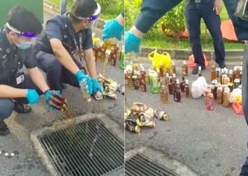 Certis investigating incident of auxiliary police officers pouring alcohol down drain in migrant worker dormitory