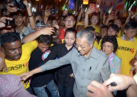 Dr M, Siti Hasmah attend Bersih rally