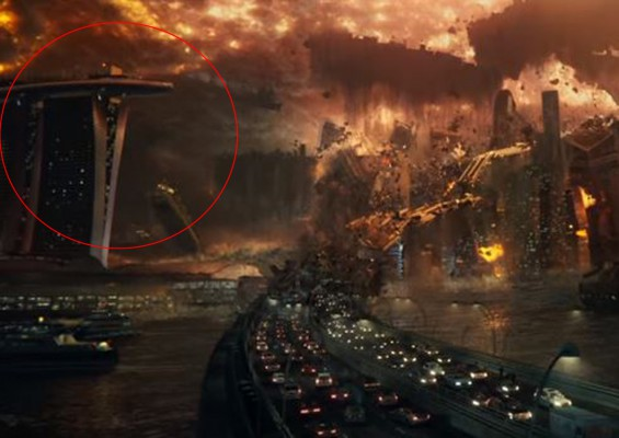 S'pore gets big Hollywood break as MBS gets 'blown up' by aliens
