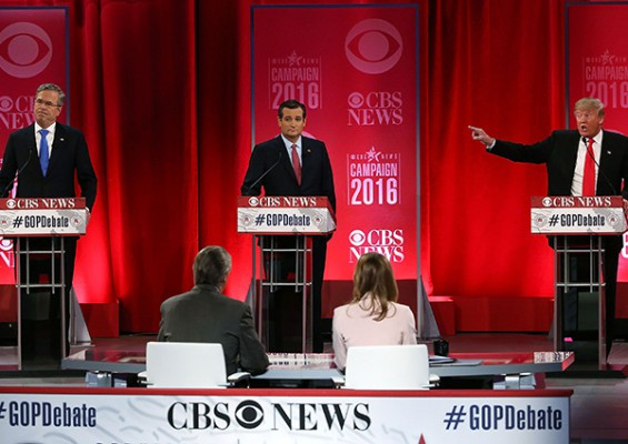 Trump, Bush engage in bitter clash at Republican debate