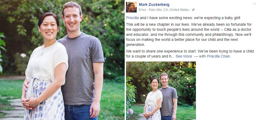 Mark Zuckerberg and wife expecting baby girl after 3 miscarriages