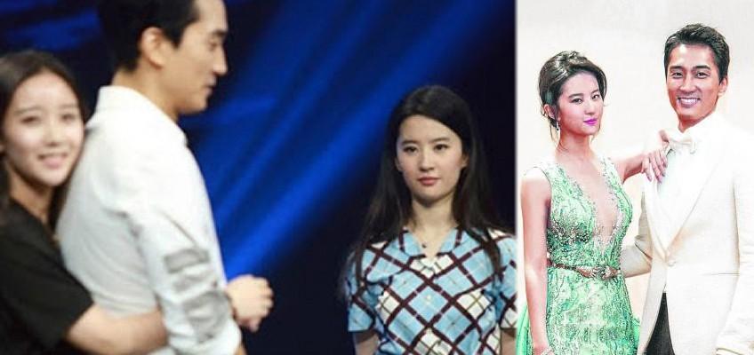 Actress Liu Yifei's face 'turns black' when female fan hugs boyfriend