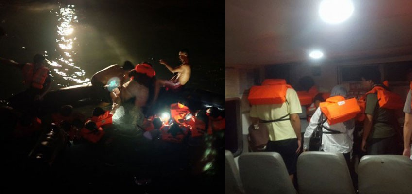 Batam ferry incident: Passenger claims overcrowded rafts burst during evacuation