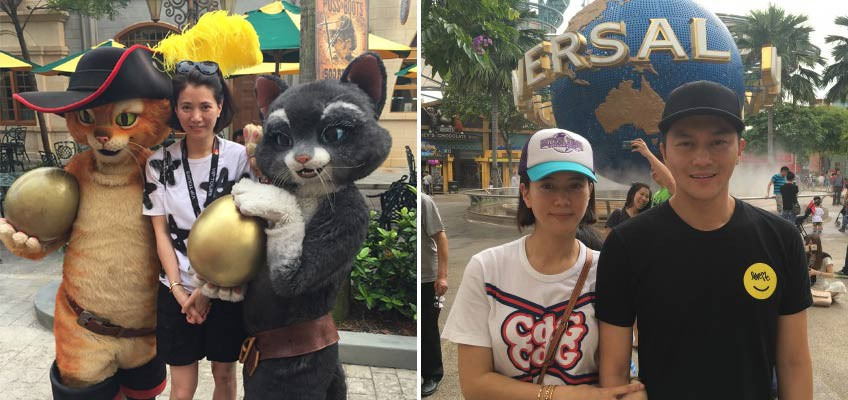 Julian Cheung and Anita Yuen spotted vacationing with family in Singapore