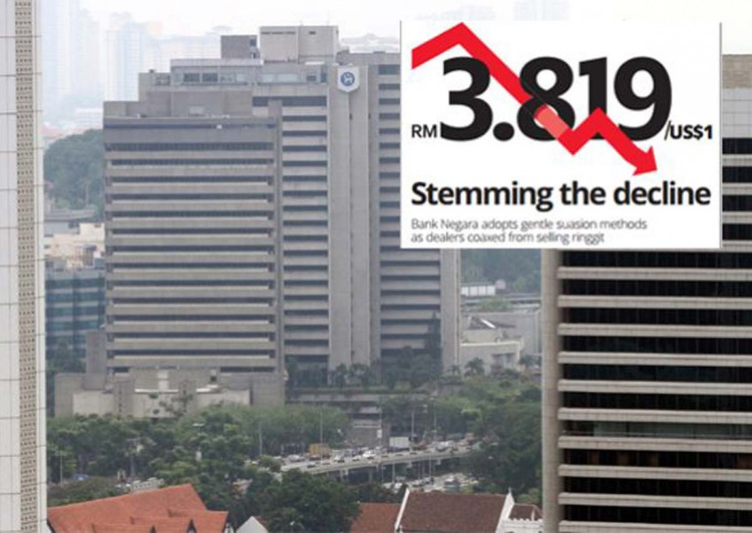 Bank Negara stemming the decline of the ringgit