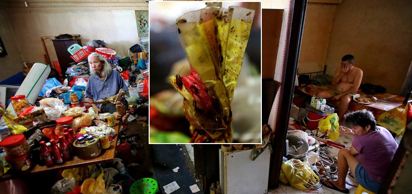 Family's Jurong West flats filled with junk, overrun with roaches