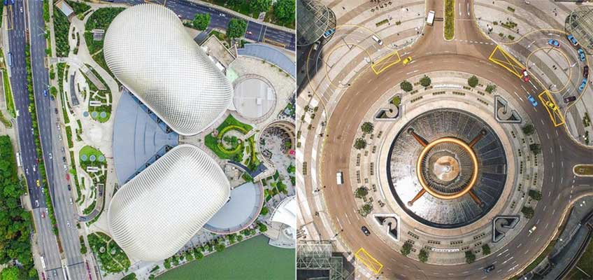 See the Esplanade and other iconic Singapore landmarks from a bird's eye view