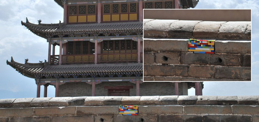 German artist travels 6 years to fix damaged buildings with Lego blocks