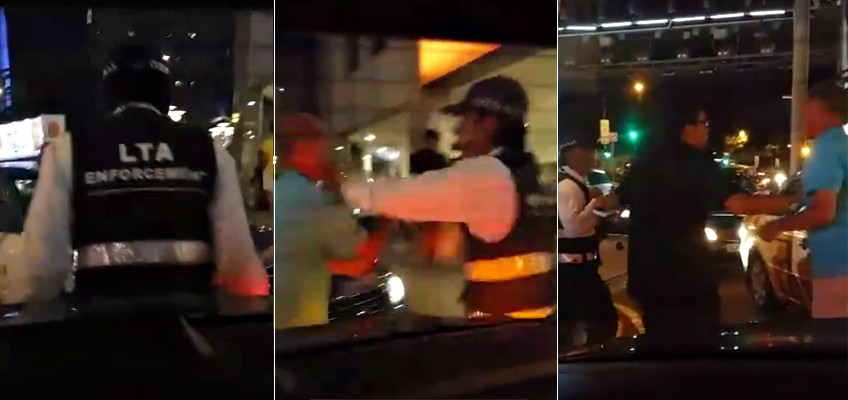 Caught on video: LTA officer shoves and kicks Uber driver at Bugis Junction