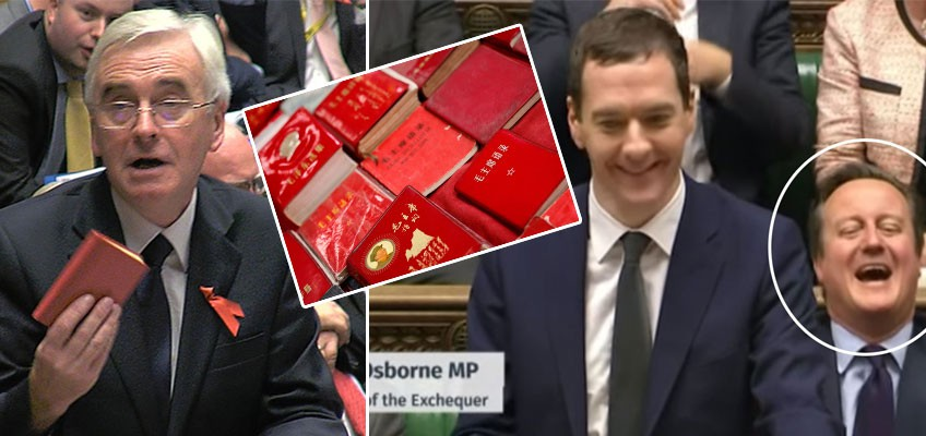 Chairman Mao's Little Red Book makes surprise appearance in Britain's parliament chamber