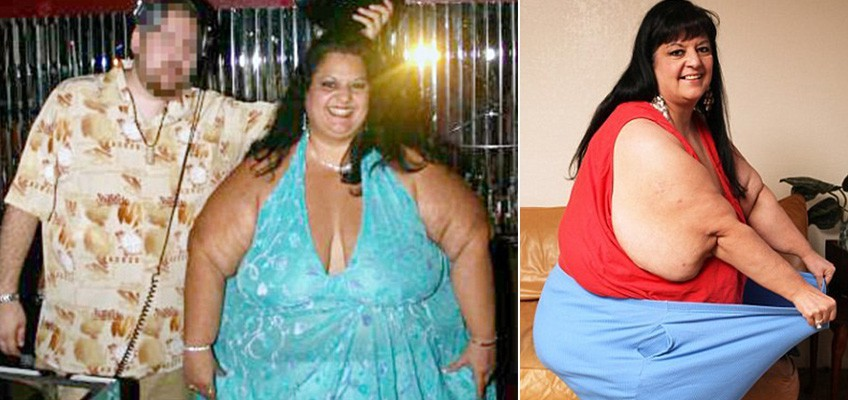 Obese woman loses 108kg after splitting from fat fetishist boyfriend