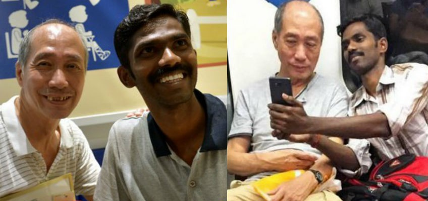 'Uncle' on MRT honoured for being kind to foreign labourers