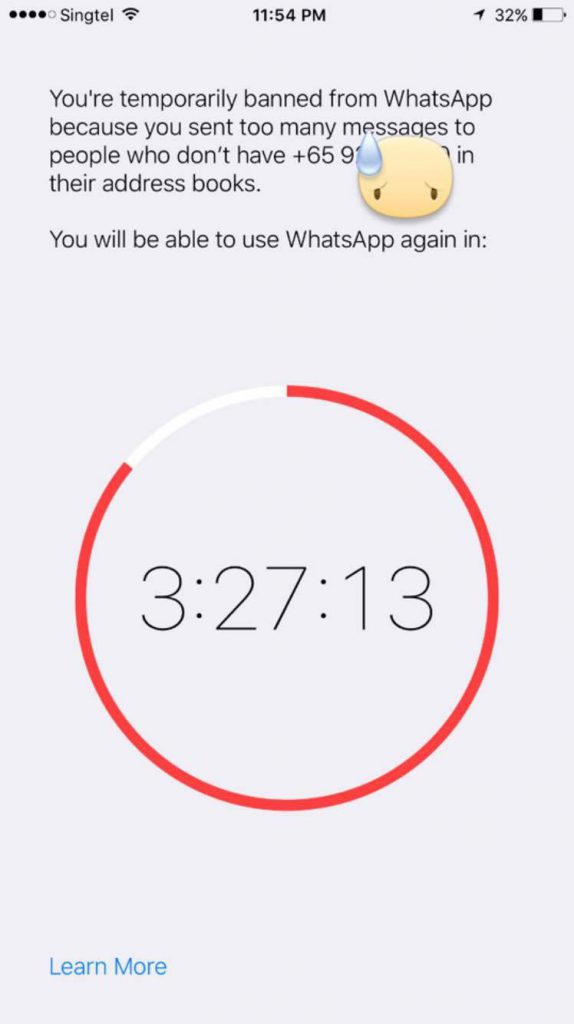 WhatsApp gives you a timeout if you've been spamming - Here's how to