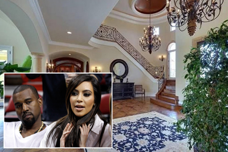 kim kardashian kanye west mansion pictures