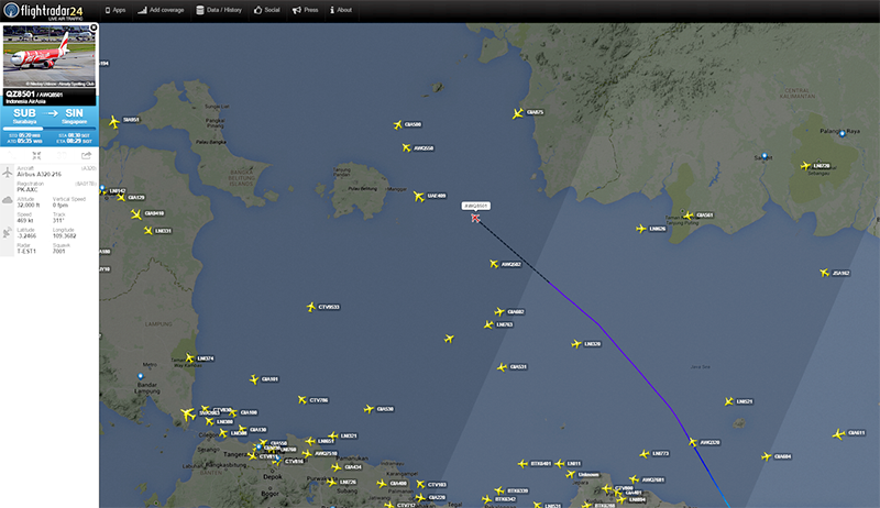 AirAsia flight from Indonesia to Singapore loses contact, Singapore ...