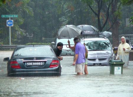 Singapore flooding