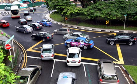 Singapore  Accident Picture on Cars Heading To Bukit Timah Road  One Of The Top 10 Most Accident
