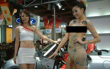 China Auto Show Body Painting