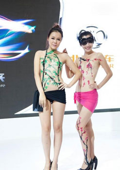 Photos: Body painting at Chinese Auto shows raise eyebrows