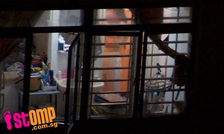 Window voyeur girl 8 topless playing game - 3 part 6