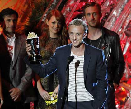 tom felton and jade mtv movie awards 2011. makeup Photos: The 2011 MTV Movie tom felton 2011 mtv awards.